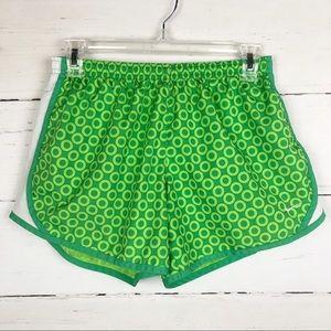 Nike Dri-Fit Running Short Green White Dot XL